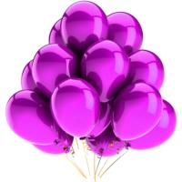 Elitparti Metalik Pembe Balon (5 Adet)