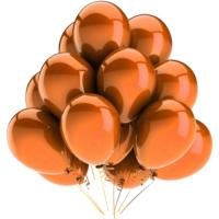 Elitparti Metalik Turuncu Balon (5 Adet)