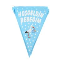 Elitparti Hoşgeldin Bebeğim Flama Bayrak Mavi (210 x 28 cm)