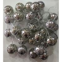 Elitparti Metal görünümlü Plastik Top Pilli Led Işık (28 Adet Lamba, 5mt)
