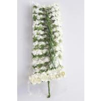 Yapay Çiçek Deposu 144lü Mini Kağıt Gül Krem
