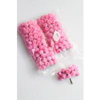 Yapay Çiçek Deposu 144lü Mini Lateks Gül Açık Pembe