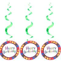 Partypark Happy Birthday Yuvarlak 3'Lü Asma Süs