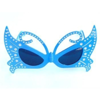 Partypark Kelebek Parti Gözlüğü-Mavi
