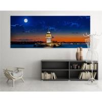 Nickeledeon Kız Kulesi Dolunay Led Işıklı Kanvas Tablo 60x120 CM