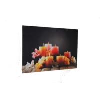 avrasya poster Dekorartif Mumlar Led Işıklı Kanvas Tablo 60x90