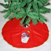 Noname Noel Babalı Kırmızı Keçe Yılbaşı Çam Ağacı Altı Örtüsü