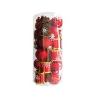 KullanAtMarket Kırmızı Yılbaşı Ağaç Süs Seti 24lü
