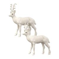 KullanAtMarket Beyaz Simli Geyikler Yılbaşı Dekor Süs 13cm