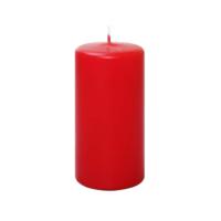 KullanAtMarket Kırmızı Silindir Mum 12cm