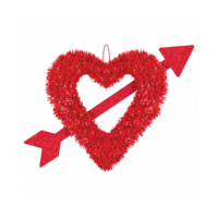 KullanAtMarket Kırmızı Kalp ve Ok Dekor Süs