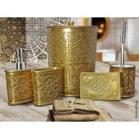 Byselim Retro Altın Polyester Banyo Seti
