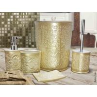Byselim Retro İnci Polyester Banyo Seti