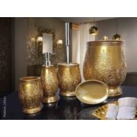 Byselim Pattern Altın Polyester Banyo Seti