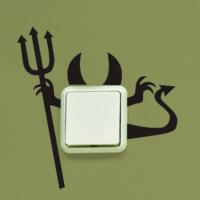 Şeytan Priz Sticker PR06