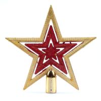Simli Yıldız Yılbaşı Çam Ağacı Tepeliği