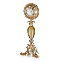 Cemile 3 Ayaklı Amber Camlı Saat