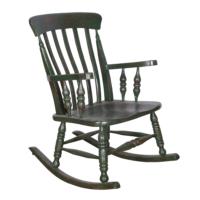 Maxxdepo Little Rock Yeşil Sallanan Sandalye