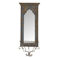 Wenge Home Masif Mango Wood Ayna 42.5x16x105 Cm