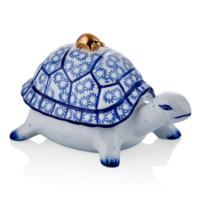 Cemile Mavi Çini Kapaklı Kaplumbağa