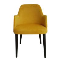 Maxxdepo New Comfort Sarı Kolçaklı Sandalye