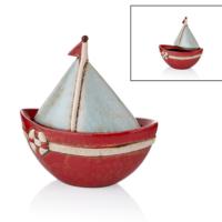 Cemile Yelkenli Kapaklı Kırmızı Büyük Kayık 24 Cm