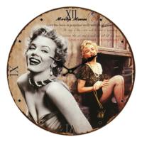 Wenge Home Duvar Saati Marilyn Monroe 34 Cm