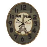 Wenge Home Duvar Saati Paris 64x80 Cm