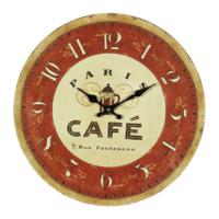 Wenge Home Duvar Saati Paris Cafe 34 Cm