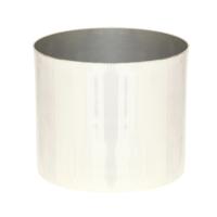 Altıncı Cadde Gümüş Rengi Saksı 14x12 cm