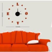 Dıy Clock Yeni Nesil 3D Duvar Saati Mini Model 9
