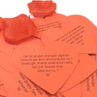 Practika Kalp Şeklinde Romantik Aşk Sözleri