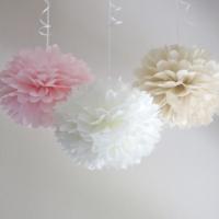 Bebekparti Ponpon Çiçek 3'lü Pembe Beyaz Krem