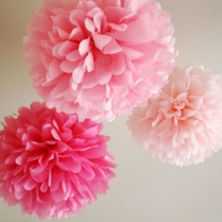 Bebekparti Ponpon Çiçek 3'lü Pembe Fuşya