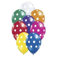 Bebekparti Karışık Renk Puantiyeli Balon 100 Adet