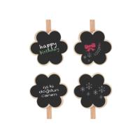 KullanAtMarket Kara Tahta Çiçek Mandal