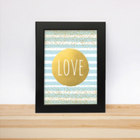 Decarthome Gold Love Çerçeve 13 - 18 cm