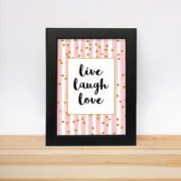 Decarthome Live Laugh Love Çerçeve 13 - 18 cm