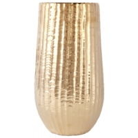 Karaca Home Wave Vazo 16.8X16.8X29.5 Cm Gold