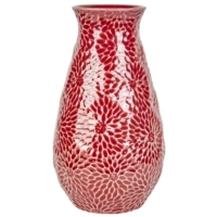 Karaca Home Brush Vazo 16.5X16.5X28.8 Cm Red