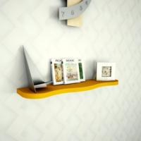 Dekoratif Duvar Rafı - Turuncu