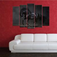 CanvasTablom B213 Siyah At Parçalı Canvas Tablo
