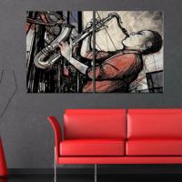 CanvasTablom İ307 Modern Art Saksafon Çalan Adam Tablo