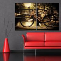 CanvasTablom İ633 Bisiklet Parçalı Kanvas Tablo