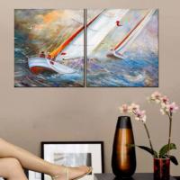CanvasTablom İ638 Yelkenli Yağlıboya Kanvas Tablo