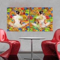 CanvasTablom İ649 2 Çıplak Kadın Parçalı Canvas Tablo