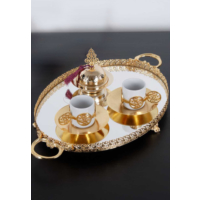 ModaStra İkili Kahve Seti Altın 35 Cm