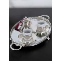 ModaStra İkili Kahve Seti Gümüş 35 Cm