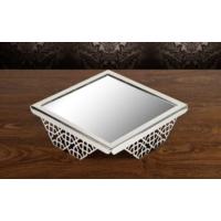ModaStra Jardinyer Lazerli Stand Gümüş - 25x25 cm