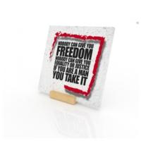 Purupa Özgürlük Özlü Sözler Taş Obje